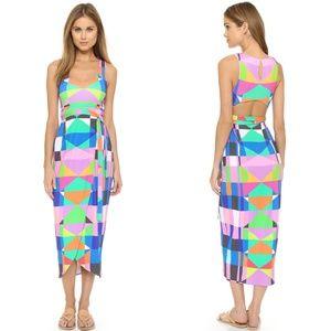 Mara Hoffman Pink Back Cutout Wrap Dress Maxi Colo